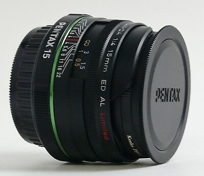 SMC PENTAX-DA 15mm F4 ED AL LIMITED WIDE ANGLE LENS