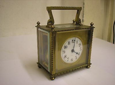 VINTAGE FRENCH R & Co PARIS BRASS CARRIAGE CLOCK, FRANCE