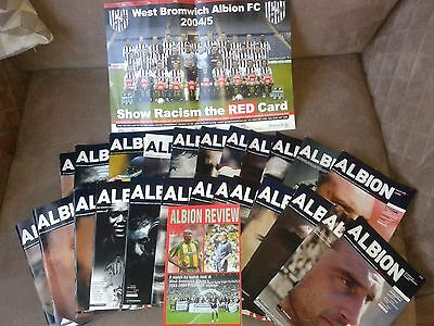 West Brom Bromwich Albion WBA HOME programmes 2003/04 Division 1