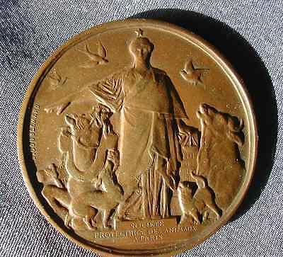 1895, Animal Rights, a French copper medal