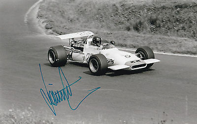 DIETER QUESTER  in F1 (F2) car, handsigned photo