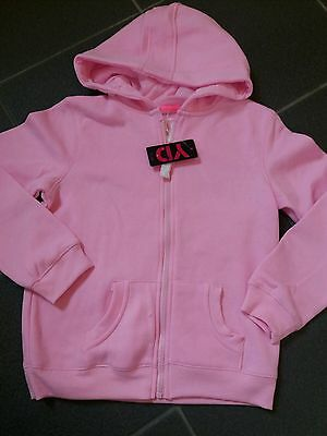 Girls  Hoodie  Age 12 - 13 Years Pink Fleece Hooded Sweat Top With Zip