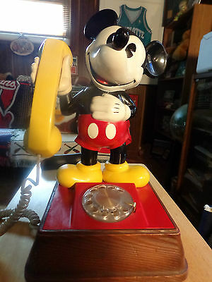 Vintage Mickey Mouse Walt Disney Productions Rotary Home Phone Works Well 1976