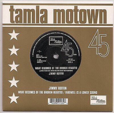 """Tamla Motown 7"""" 45 Jimmy Ruffin - What Becomes Of The Broken Hearted / Farewell"""