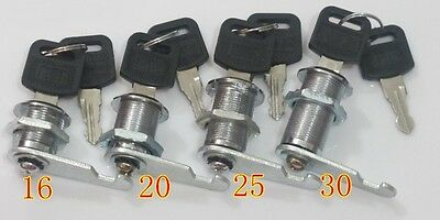 30PCS/LOT 20mm Cam Lock KEYED TO DIFFER LOCKS