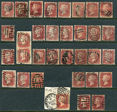 Great Britain 33 #33 Used, Good Variety Of Plate Numbers