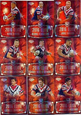 2016  NRL ESP Elite Ruby MOJO team set Sydney Roosters 40/40