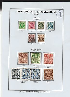 Great Britain  Page From An Old Album  1937  Values To 1 Pound  (4)