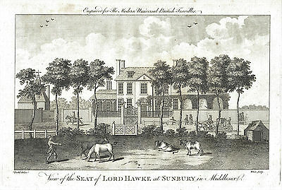 The Seat of Admiral of the Fleet, Edward Hawke, Sunbury, Middlesex - Eng.  c1785