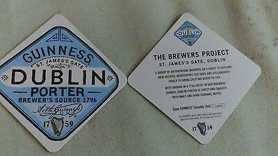 GUINNESS  BEER MATS Two 2014 New.