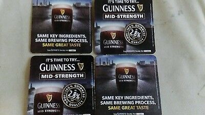 GUINNESS Mid Strength BEER MATS Two 2012. New.