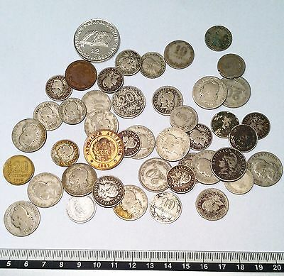 Lot of 40 Argentina coins, 5 key date!