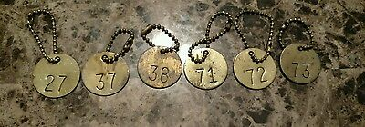 6 VINTAGE Brass Tags, Steampunk, Steampunk art.