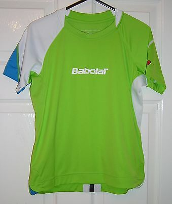 Babolat - Green/White/Blue T-Shirt - Tennis - Age 10 Years