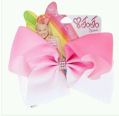 Jojo siwa Large white and pink ombre signature Bow