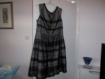 Black sparkly monsoon dress 18 Evening Party Cruise wear