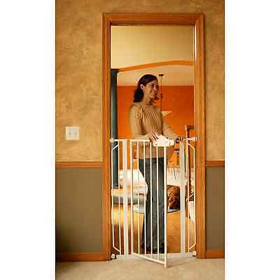 Baby Gates For Stairs Top Bottom Swing Door Walk Through Extra Tall Modern Pets