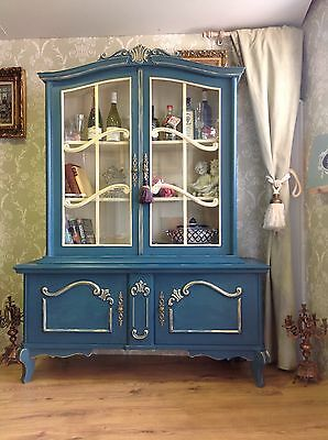 Carved Vintage French Shabby Chic Bookcase Display Drinks Cabine Annie Sloan