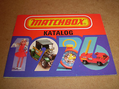 Matchbox Toy Catalogue 1976 German Edition Excellent Condition For Age