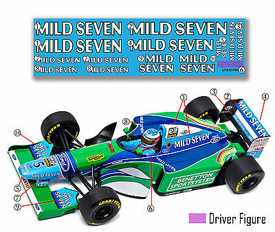 "GPD DECALS F1 1/18 1994 Benetton B194 ""Race Livery"" Schumacher NOW AVAILABLE"