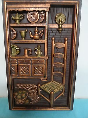 Molded wall plaques  kitchen vintage hard plastic