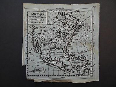 1782 Atlas VAUGONDY map  AMERIQUE SEPTENTRIONALE - NORTH AMERICA