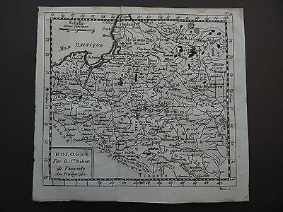 1782 Atlas VAUGONDY map  POLAND - POLOGNE - Lithuanie