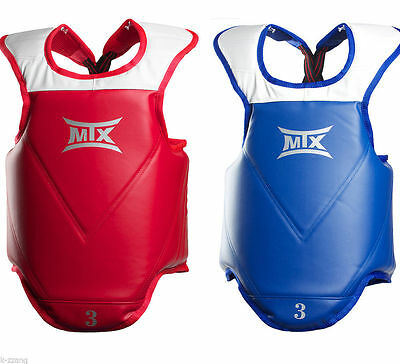 MTX Taekwondo Reversible Body Protector Chest Guard Red Blue