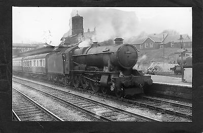GWR loco No. 1003 COUNTY of WILTS at WELLINGTON STATI-ProperR/P-P/C glossy photo