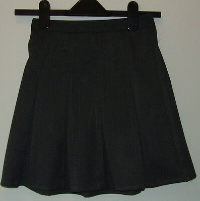 George Girls Grey Pleated School Skirt Size 5-6 Years