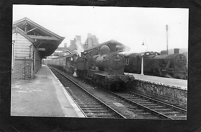 GWR loco No.9013 & 4651 at WELSHPOOL STATION in 1953-ProperR/P-P/C glossy photo