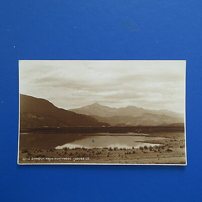 Old Postcard of Snowdon from Portmadoc.