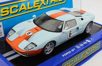1/32 Scalextric C3324 #6 Ford GT Heritage Gulf slot car