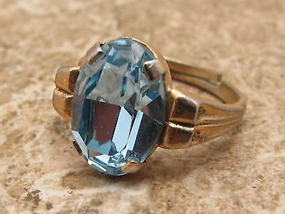 Vintage Stone Set Art Deco Design Ring See Photo For Size