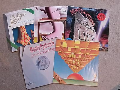 5 x LP's MONTY PYTHON FLYING CIRCUS HOLY GRAIL MEANING LIFE MATCHING TIE COMEDY