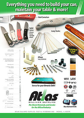 Various Cue Building And Maintenance Products  ..... See Item Descriptions Below