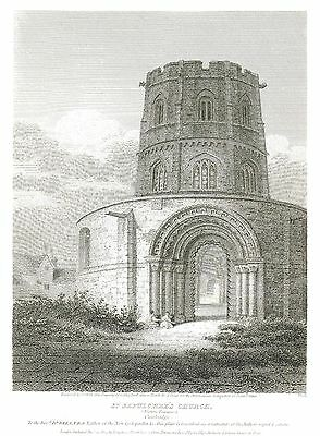 The Church of the Holy Sepulchre, Cambridge - Engraved by J. Storer - 1805