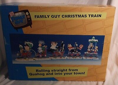 LOOK FAMILY GUY CHRISTMAS TRAIN Figures Set 5 Cars Stewie Brian Peter Lois 2005