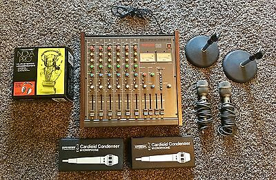 Tascam M-106 Vintage 6 Channel Analog Mixer W/ Manual/mics/stands/headphones