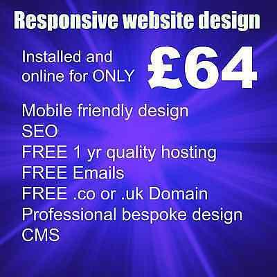 RESPONSIVE WEBSITE DESIGN - MOBILE FRIENDLY WEB PAGES - retired UK designer