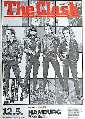 The Clash ORIGINAL Hamburg Concert Poster from 1980   (not a re-print)