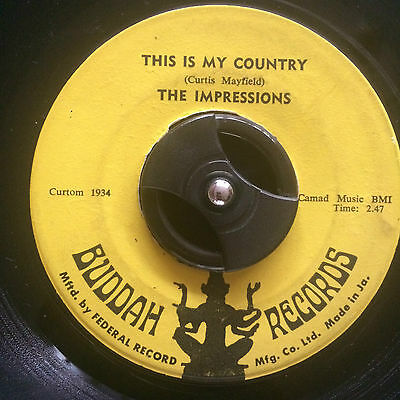 "The Impressions - This Is My Country 7"" Vinyl Listen"