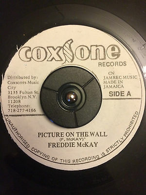 "Freddie McKay - Picture On The Wall 7"" Vinyl Listen"