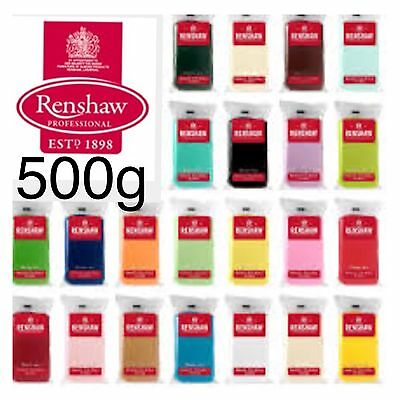 Renshaw Icing Ready to Roll Out 500g  Fondant Sugarpaste