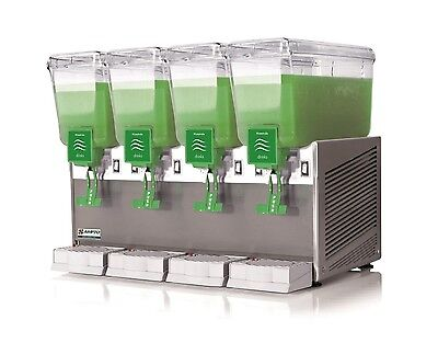 New Commercial Beverage Dispenser 4 tanks, 3 gal,All S/S Base,Made in Italy, NSF