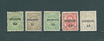 A collection of stamps from LUXEMBOURG with unusual overprints