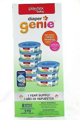 Playtex Diaper Genie Refill Gift Set - 270 Count ( Pack of 8 ) New