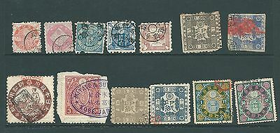 A collection of stamps from JAPAN including Fiscal & Telegraphs