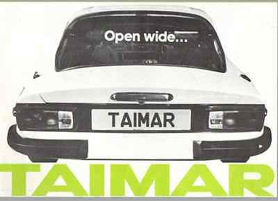 TVR Taimar 6 Sided Brochure 1976 (NO4)