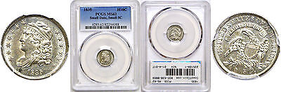 1835 Bust Half Dime PCGS MS-62 Small Date, Small 5c